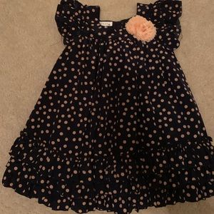 Darling navy blue and peach 2T dress!